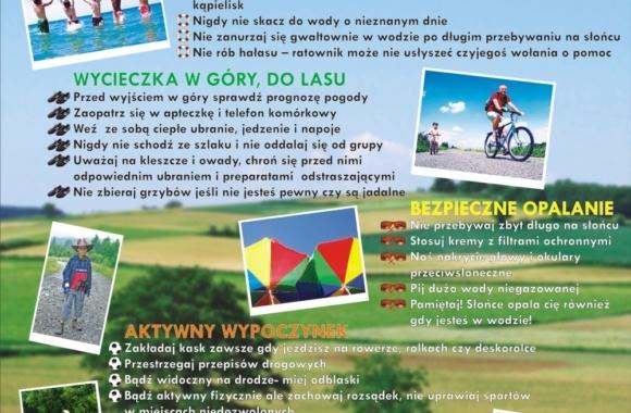 plakat bezpieczne wakacje